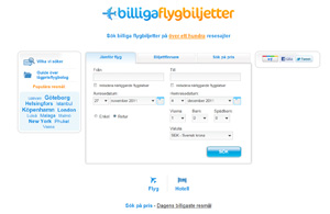 Searches and compares prices for flights and hotels across hundreds of travel websites. Available in English and Swedish.
