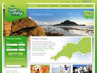 Farm and Cottage holidays is a independent family run business with over 30 years experience of bringing you the best holiday cottages in the South West.