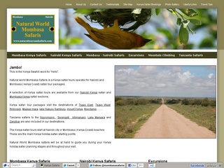 Kenya safari tours operator for Nairobi and Mombasa ( kenya Coast) safari tour packages