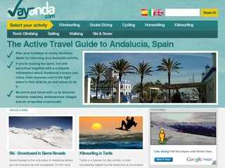 The Active Travel Guide to Andalucia, Spain.