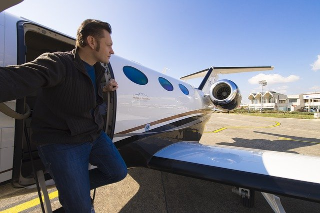Chartering private jet