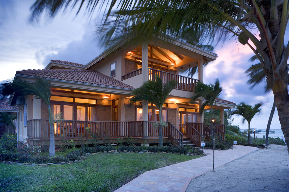 Beautiful homes on the Caribbean Sea in Belize